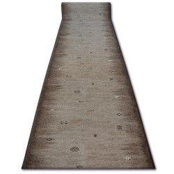 Vastag csúszásgátló futó szőnyeg GABBEH barna azték ETHNIC