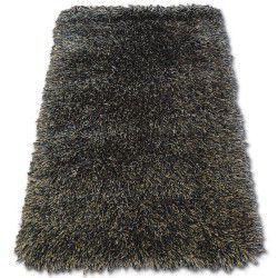 Tepih LOVE čupavi uzorak 93600 crno-smeđa