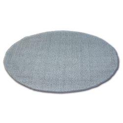 Tepih krug čupavi MICRO srebro