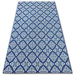 Fonott sizal color szőnyeg 19246/699 Virágok Kék