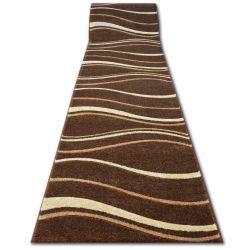 Ковер Лущув HEAT-SET FRYZ FOCUS - 8732 коричневый венге волны какао