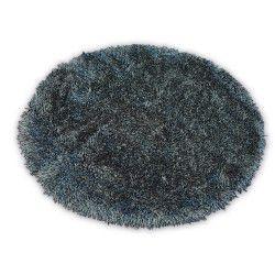 Tapis LOVE SHAGGY cercle modèle 93600 noir