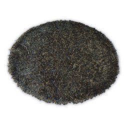 Tapis LOVE SHAGGY cercle modèle 93600 noir et marron