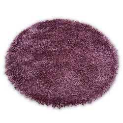 Tapis LOVE SHAGGY cercle modèle 93600 violet