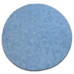 Carpet round SERENADE bright blue