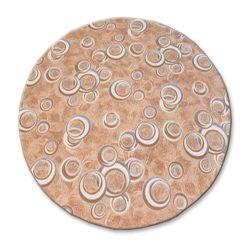 Carpet round DROPS beige