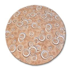 TAPIS cercle DROPS beige
