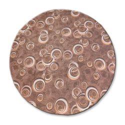 TAPIS cercle DROPS marron