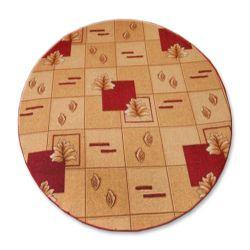 Kulatý koberec POLKA bordó