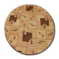 Kulatý koberec POLKA hnědý