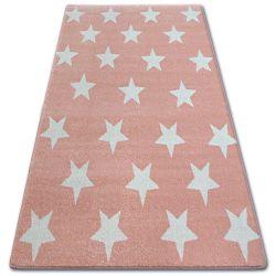 Килим SKETCH - FA68 рожевий/кремовий - зірки