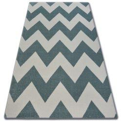 Tapete SKETCH - FA66 azul turquesa/creme- Zigzag