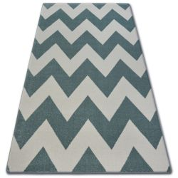 Tapis SKETCH - FA66 turquois et crème - Zigzag