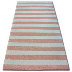 Sketch szőnyeg - F758 rózsaszín/krém - Csíkok
