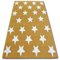 Tapis SKETCH - FA68 doré et crème - Petites étoiles Étoiles