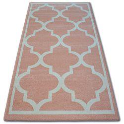 Sketch szőnyeg - F730 rózsaszín/krém Lóhere Marokkói Trellis