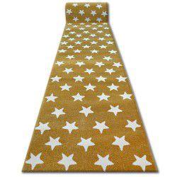 Alfombra de pasillo SKETCH - FA68 dorado/crema - Estrellitas Estrellas