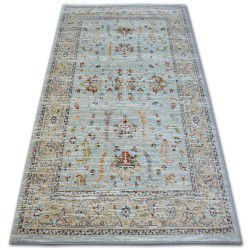 Teppich ARGENT - W7039 Blumen Blau / Sahne