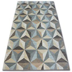 Carpet ARGENT - W6096 Triangles Beige / Blue
