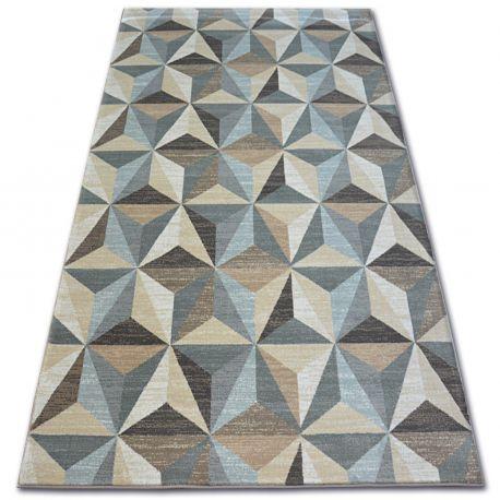 Tappeto ARGENTO - W6096 Triangoli Beige / Blu