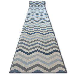 Csúszásgátló futó szőnyeg SKY kék Cikcakk
