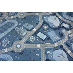 Detský koberec-Kobercové STREET protišmykový , modrá