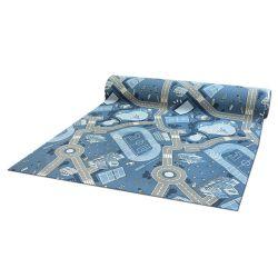 Antypoślizgowa wykładzina dywanowa pour enfants STREET RUE bleu