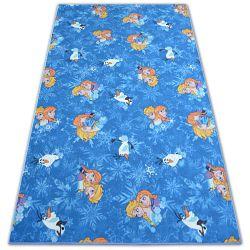 Passadeira carpete infantil FROZEN azul O REINO PARAGELO ELSA