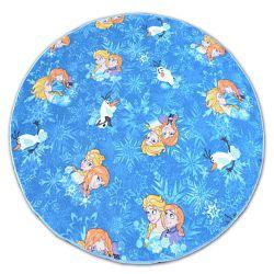 Carpet, round FROZEN blue ELSA