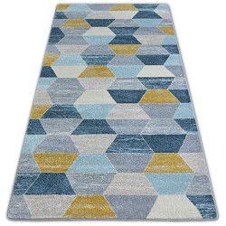 Nordic szőnyeg HEKSAGON szürke/kék G4596