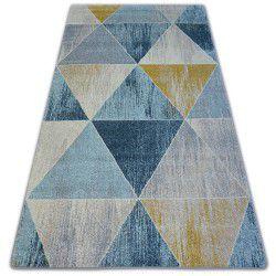 Килим NORDIC триъгълници синьо/екрю G4584