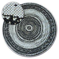Fonott sizal flat szőnyeg kör48756/960 ÓLOMÜVEG