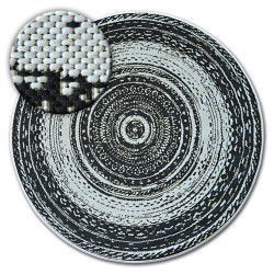 Tepih krug NIZ SISAL FLAT 48756/960 VITRAŽ