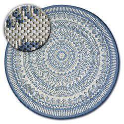 Kulatý koberec FLAT 48695/591 SISAL - vitráže