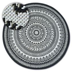 Kulatý koberec FLAT 48695/690 SISAL - vitráže