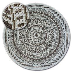 Kulatý koberec FLAT 48695/768 SISAL - vitráže