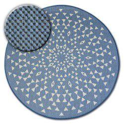 Kulatý koberec FLAT 48715/591 SISAL - vitráže
