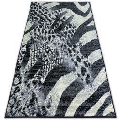Tæppe BCF FLASH SAFARI 3912 sort/grå