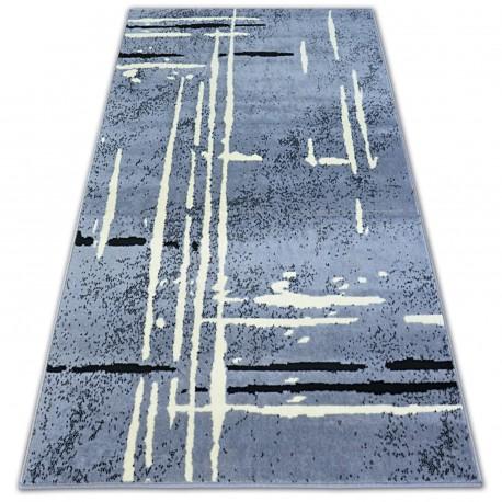 Tapis BCF BASE FUZZY 3909 LIGNES gris/noir