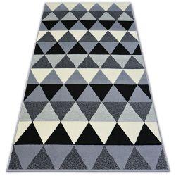 Covor BCF Base Triangles 3813 Triunghiuri negru si gri