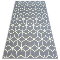 Carpet BCF BASE CUBE 3956 SQUARES grey