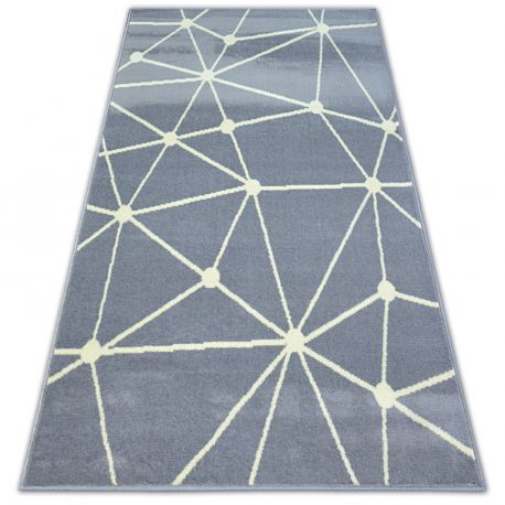 Alfombra BCF BASE GALAXY 3925 Triángulos gris