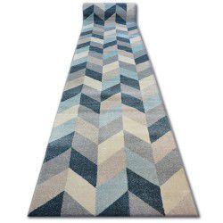 Tapis de couloir NORDIC CHEVRON bleu G4582