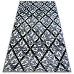 Carpet BCF BASE DIAMONDS 3869 SQUARES grey/black