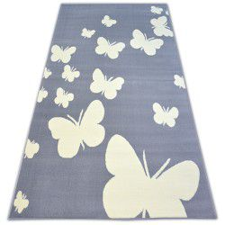 Alfombra BCF FLASH BUTTERFLY 3976 Mariposas gris