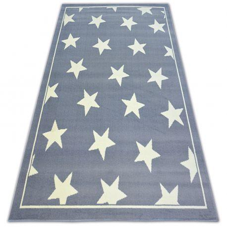 Tapis BCF FLASH STARS 3975 ÉTOILES gris