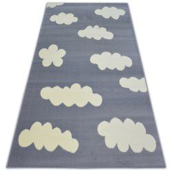 Tæppe BCF FLASH CLOUDS 3978 skyer grå