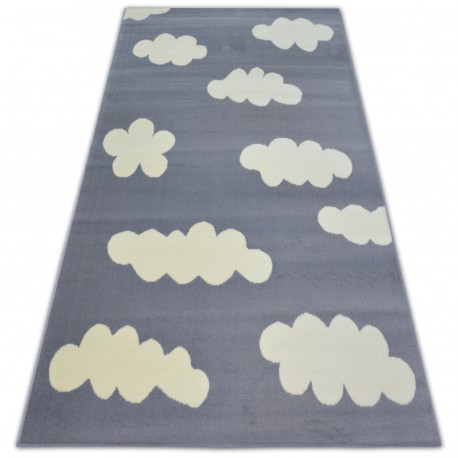 Tapis BCF FLASH CLOUDS 3978 PETITS NUAGES gris