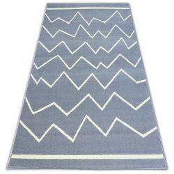 Carpet BCF BASE CROOKED 3962 ZIGZAG grey