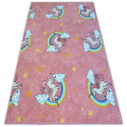 Fitted carpet for kids UNICORN pink